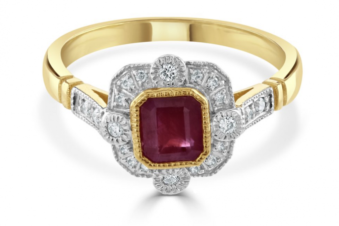 Weekly Highlight: Ruby and diamond ring